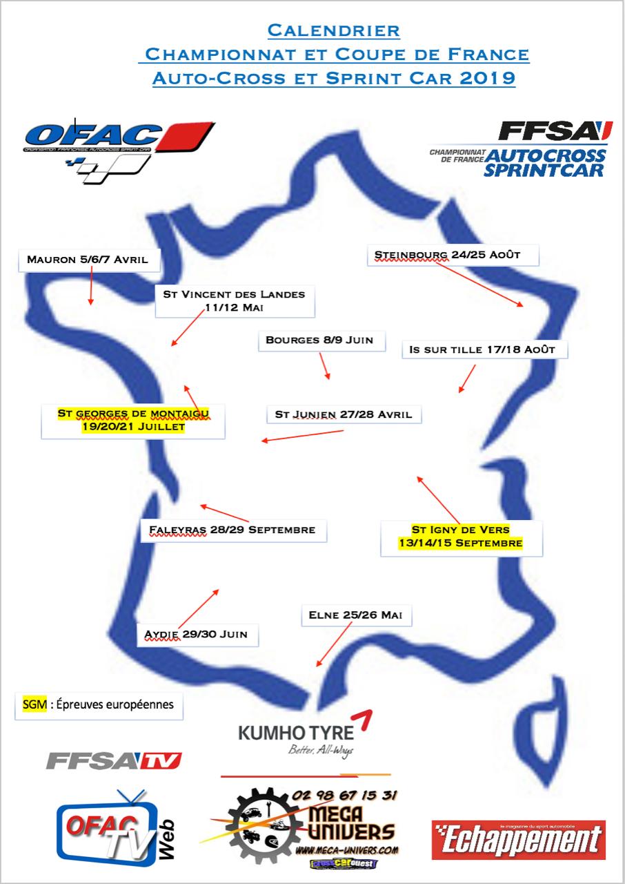 Calendrier Autocross Ouest 2020.Calendrier Saison 2019
